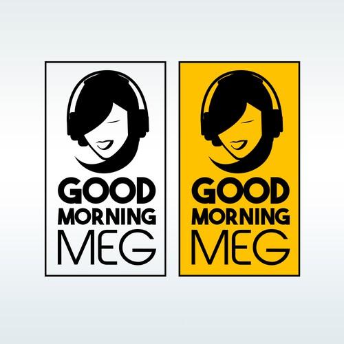 Flat logo design for radio show