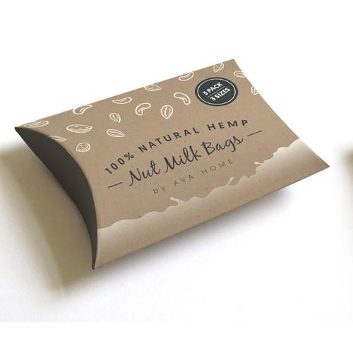 Natural Hemp Nut Milk Bags