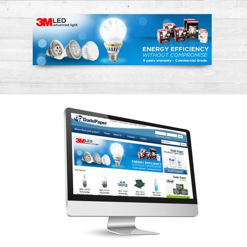 banner design for LED lighting