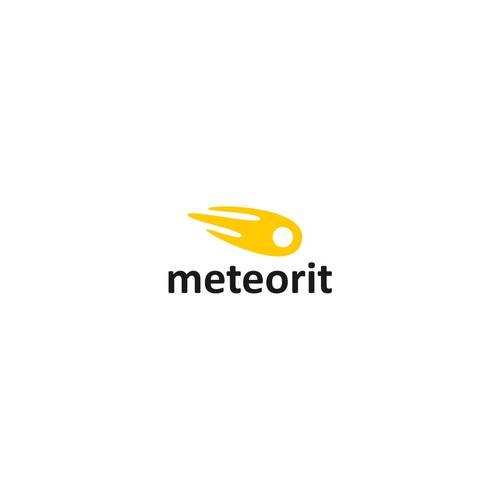 meteorit logo concept