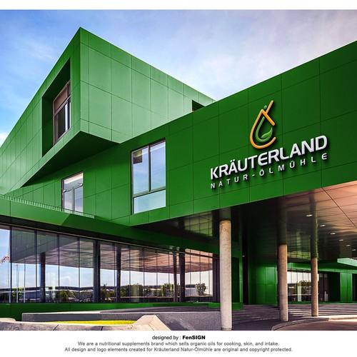 Clean and Modern logo for Kräuterland Natur-Ölmühle