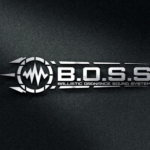 logo cocept of guns shop