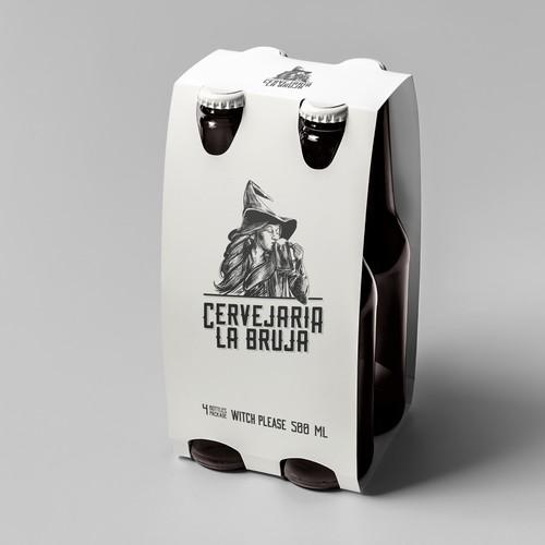Cervejaria la Bruja logo concept