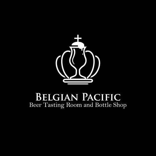 Create a stylish logo for a Belgian Beer Tasting room and bottle shop