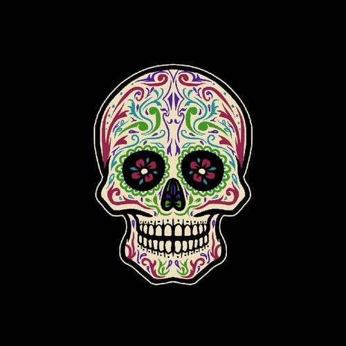 Best Sugar skull design for a t-shirt