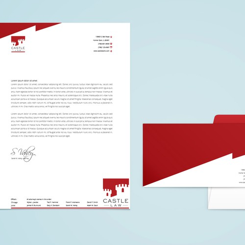 stationery for Castle Law