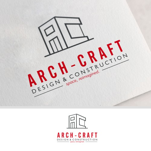 Simple logo concept for construction firm.