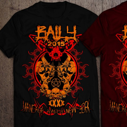 Design a HEAVY METAL t-shirt that's loud, obnoxious, evil and bloody