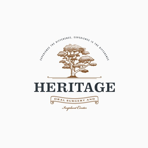 Vintage logo concept for Heritage Oral Surgey and Implant Centre.