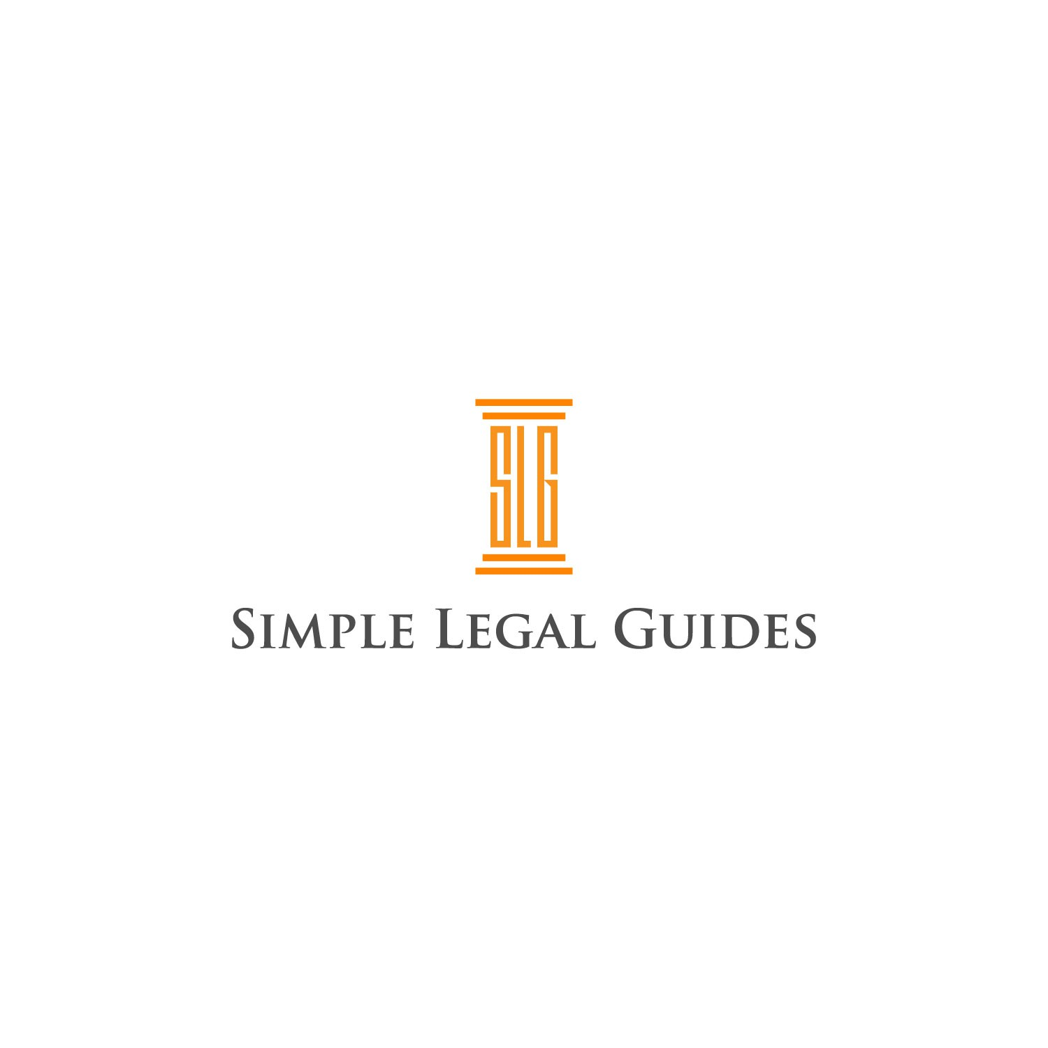 """""""Help Simple Legal Guides with an elegant and, well, simple logo"""""""
