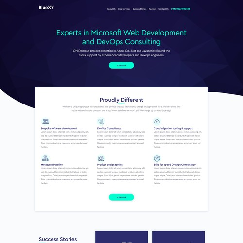 Tech Services Landing Page