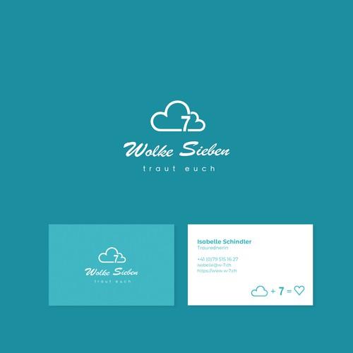 Logo and business card design for a wedding presenter