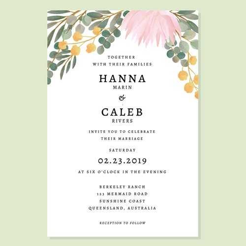 Digital invitation design