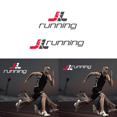 Trendy, Fun Running Logo for JL Running