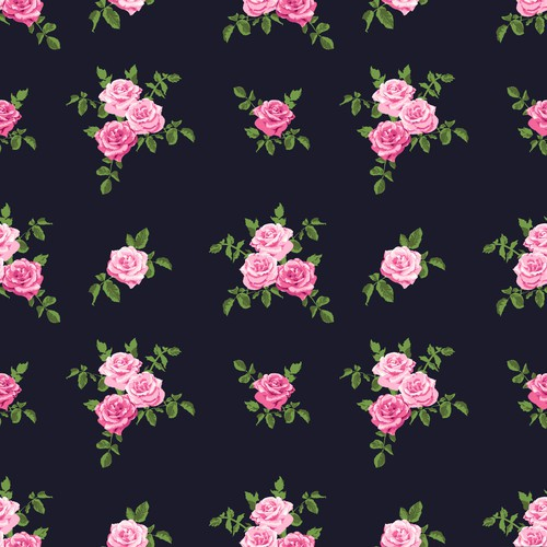 Feminine Rose Pattern
