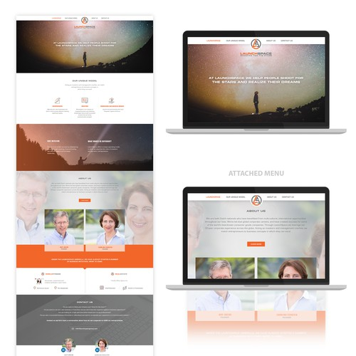 LaunchSpace web design