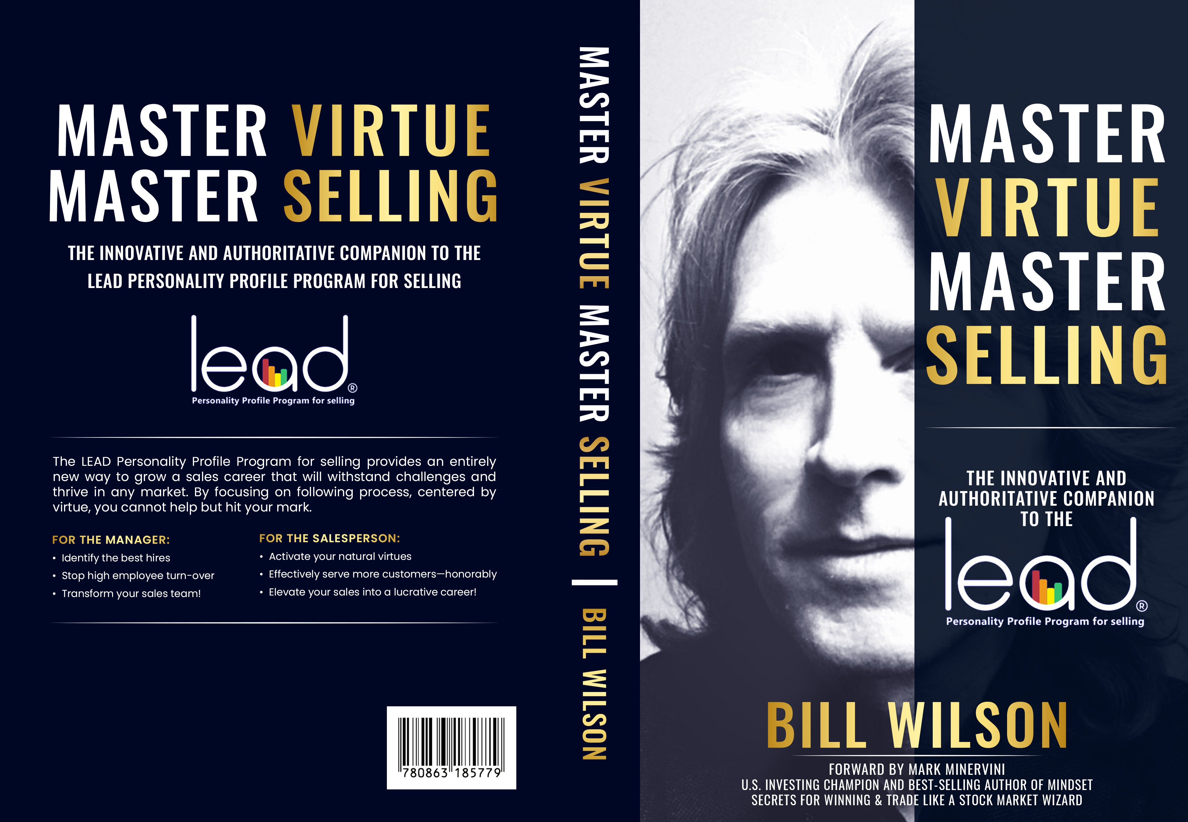 Master Virtue, Master Selling Book Design. Author's first book. He plans to become well known.