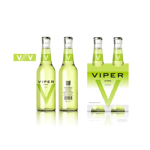 Label for Viper: a fruit-flavored alcoholic beverage