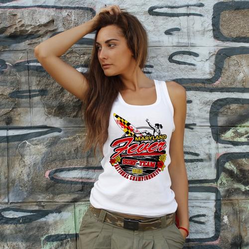 Design a fun T-shirt design with Hawaiian theme for Softball team