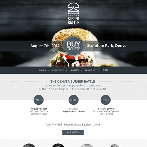 Website Food Event
