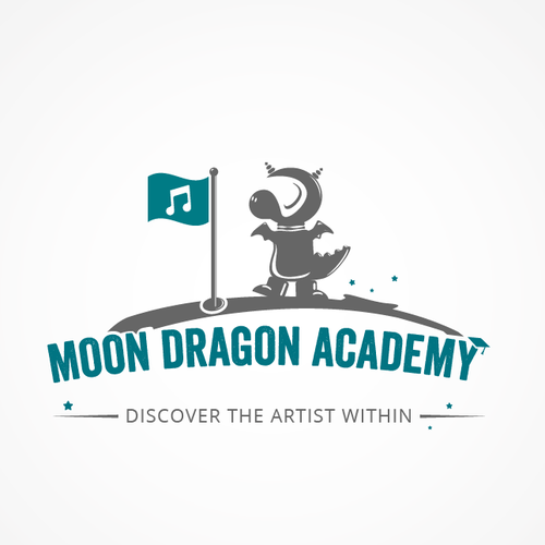 Create the next logo for Moon Dragon Academy