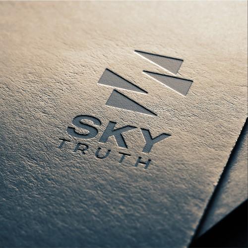 Negative space minimal logo for environmental company