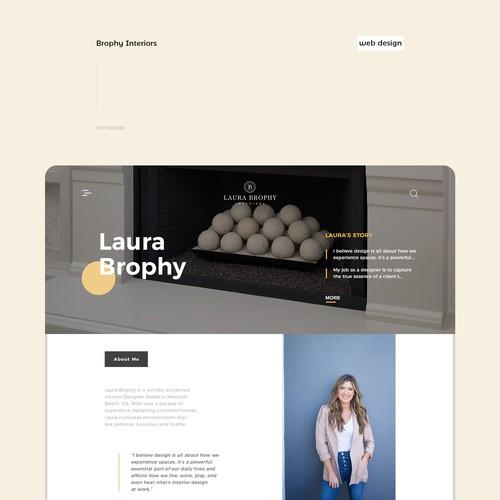 Brophy Interiors website