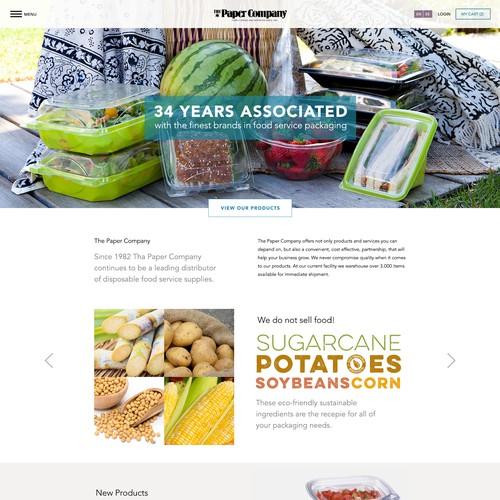Website for dispensable packaging