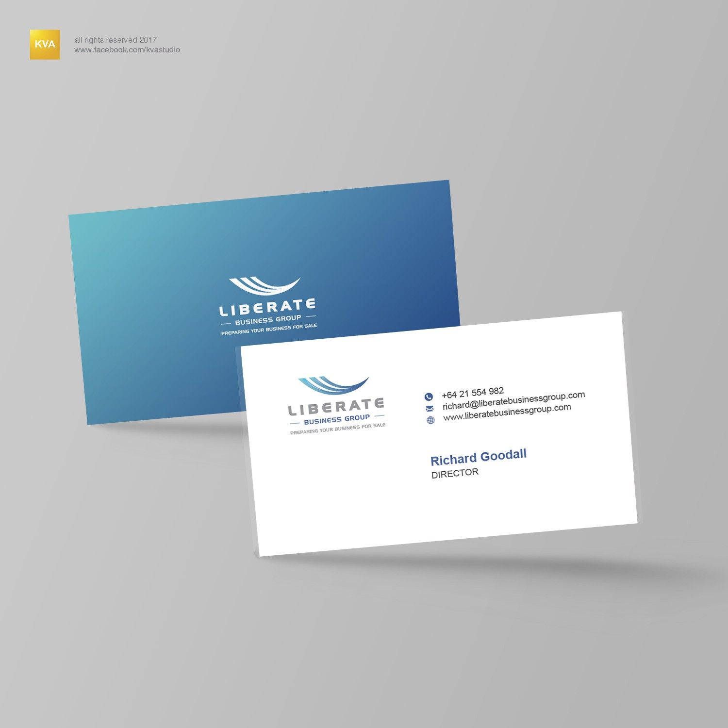 Liberate business cards