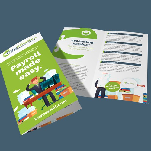 Fun accounting services trifold brochure