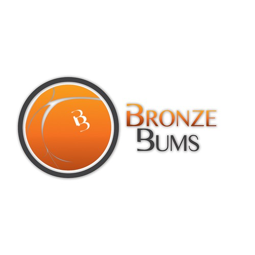 Create an interesting mobile tanning logo with an illustration of a bikini bum