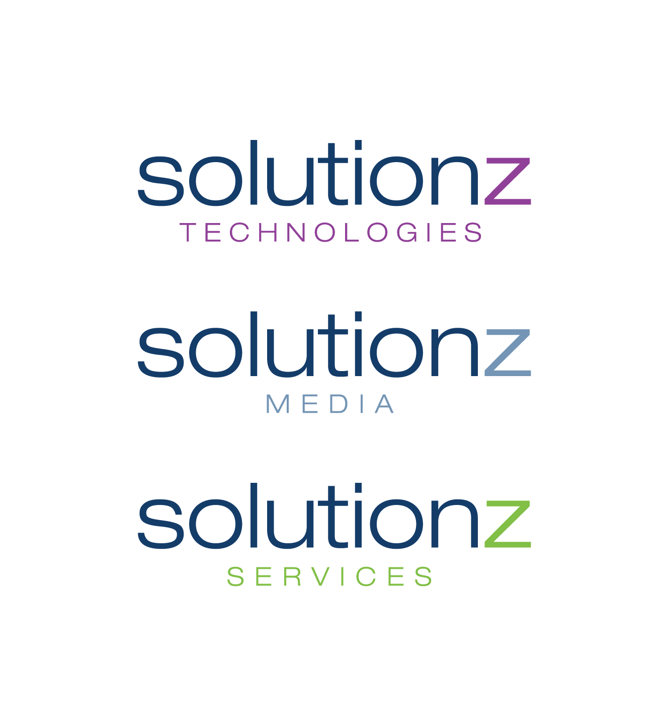 Create a design template for a Solutionz family of logos