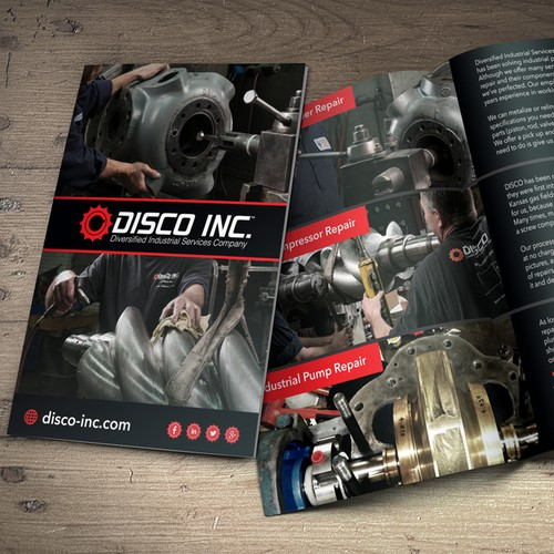 Brochure design for Disco Inc.