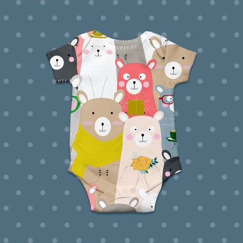 Baby clothes Inspired by Japanese culture