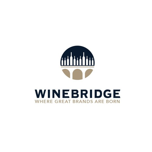 Wine Bridge Logo for Wine Retail Company