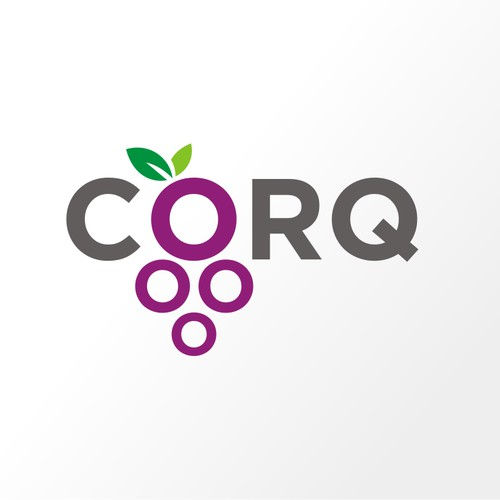 Create a wine-inspired logo for Corq