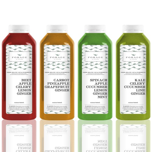 Product Label for Forage Kitchen Juices