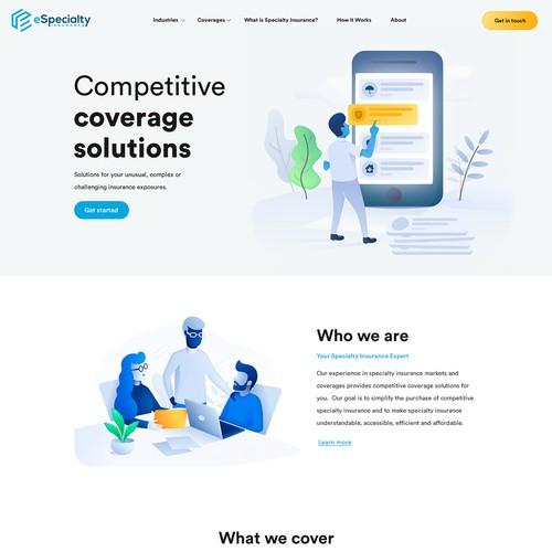 Modern insurance website design