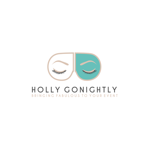 Create a classy logo for Holly GoNightly, an event planning company