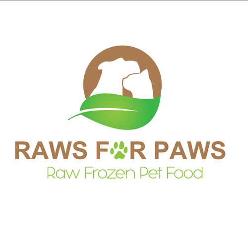 Help Raws for Paws with a new logo