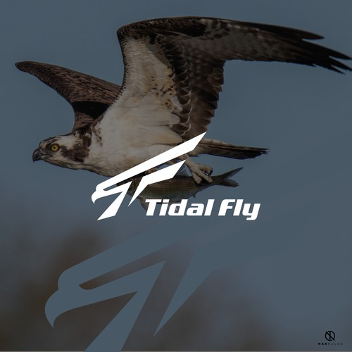 simple and cool logo concept for an outdoor apparel brand names Tidal Fly