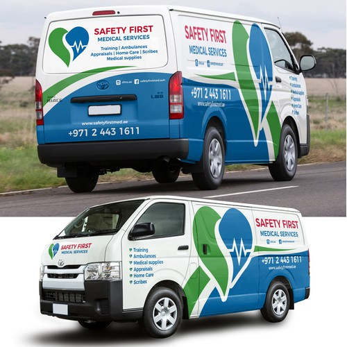 Safety First Toyota Hi-Ace 2017 wrap