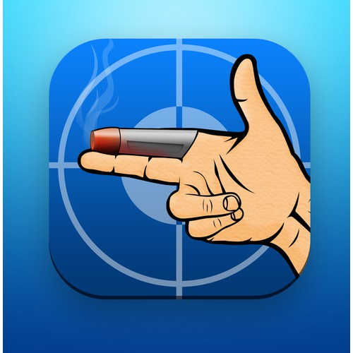 The highly rated GUNFINGER game App Icon design