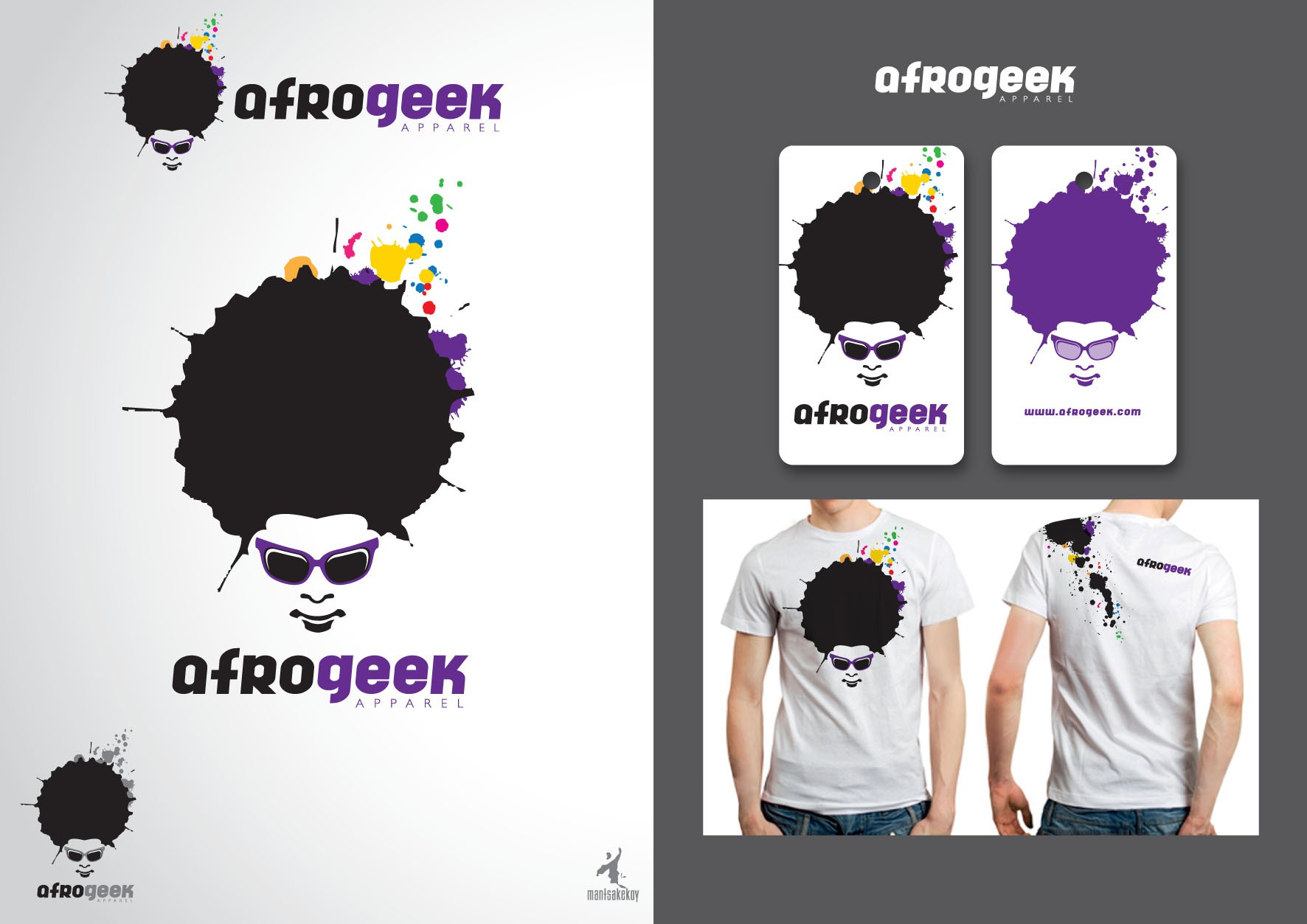 AfroGeek needs a new logo for the website, and T-Shirt designs