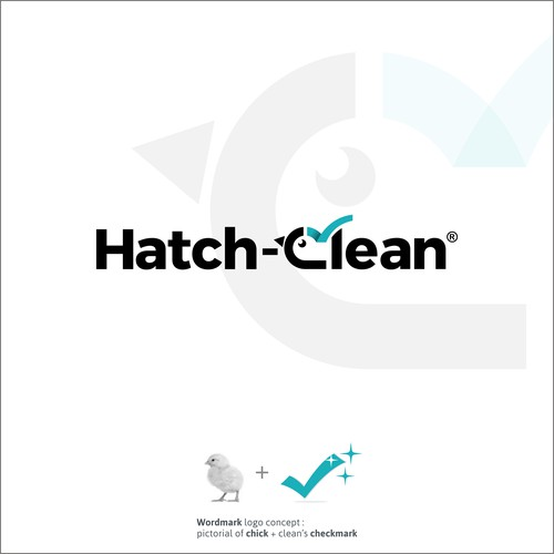 Simple logo for Hatch cleaning