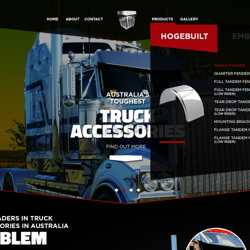 Truck Accessories Web Page