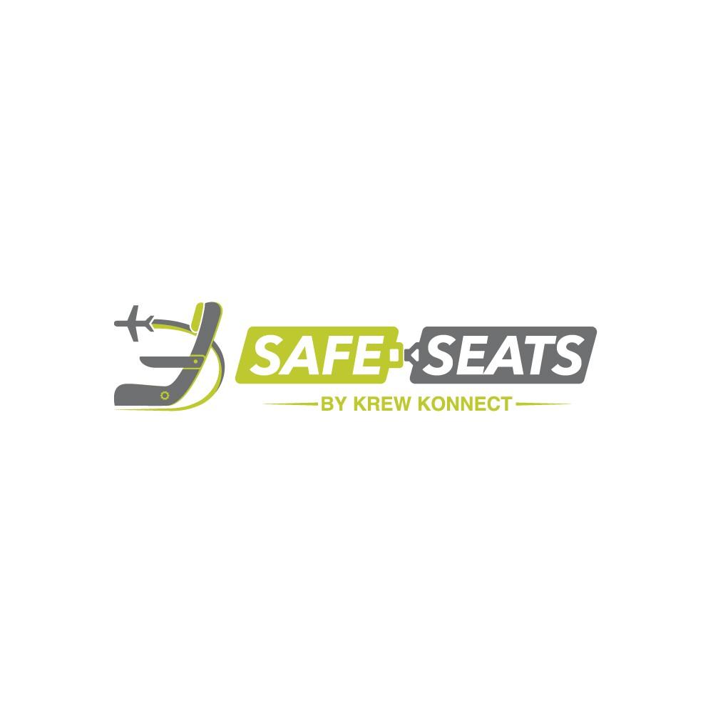 Design a futuristic logo for airplane seat cover company