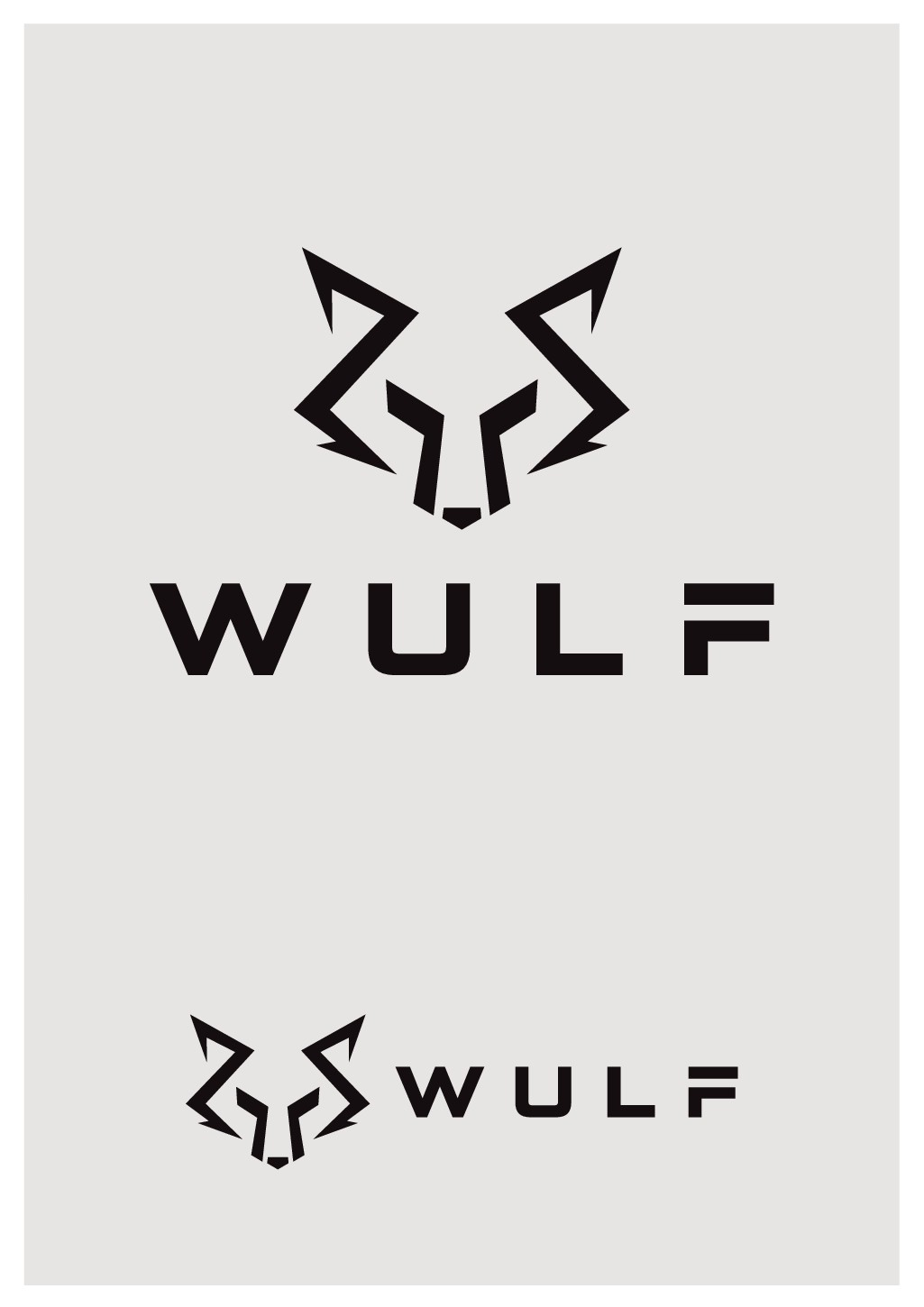 Design a geometric logo for a new gym and fitness clothing brand