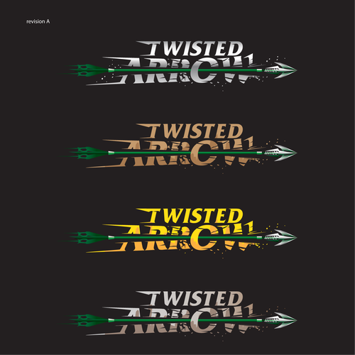 logo for  twisted arrow video game