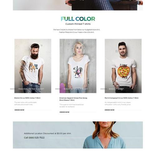An apparel company e-commerce website